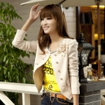 พรีออเดอร์ เสื้อสูทแฟชั่นสไตล์เกาหลี เสื้อสูทวัยรุ่น สูทสั่้น สีกากี