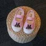 รองเท้าเด็กผู้หญิงสีชมพู กระต่าย