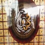 ภาพ หงส์คู่มังกร ภาพวาด ติด ทองคำเปลวแท้100% ขนาด1x1เมตร