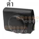 พร้อมส่ง กระเป๋ากล้องหนัง เคสกล้อง Semi Soft Case for Panasonic GF3,With Short Lens สีดำ