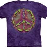 Pre.เสื้อยืดพิมพ์ลาย3D The Mountain T-shirt : Frog Peace Dye MD