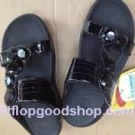 รองเท้า Fitflop Lucia Slide สวม (เพชร 5 เม็ด) สีำดำ No.FF070