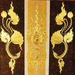 ภาพบัวทอง ขนาด 1 x 1 เมตร (แยก3ชิ้น)