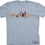 Pre.เสื้อยืดพิมพ์ลาย3D The Mountain T-shirt :Puppy Row MD