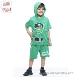( 3-4-5 ปี ) ชุดแฟนซี Super Hero - The Avengers - The Hulk ยักษ์เขียว เสื้อแขนสั้น สีเขียว สกรีนลายHulk มีหมวก(ฮู้ด) มีไฟกระพริบตรงหน้าอก กางเกงขาสั้นสีเขียว ชุดสุดเท่ห์ใส่สบาย ลิขสิทธิ์แท้ (สำหรับเด็ก3-4-5 ปี)