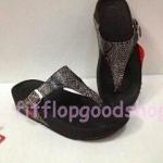 รองเท้า Fitflop New ลายงู  สีดำ No.FF451