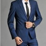 (พรีออเดอร์) ชุดสูทสากล ชุดสูทผู้ขาย สูทแนวสปอร์ต กระดุมเม็ดเดียว สีน้ำเงินประกาย (Diamond Blue) แฟชั่นสูทสไตล์เกาหลี