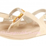 รองเท้า Fitflob Chada เพชรเม็ดเรียว รัดส้น  สีขาวครีม No.FF214
