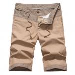 Pre-order กางเกงขาสั้น กางเกงลำลองฤดูร้อน กางเกงทะเล แบบทูโทน แฟชั่นสไตล์เกาหลี สีกากี