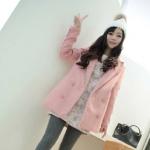 2014 ฤดูใบไม้ร่วงและฤดูหนาวเสื้อผ้าสตรีเกาหลีใหม่สลิมเสื้อขนสัตว์กระดุมสองแถวและส่วนยาวขนสัตว์หญิงเสื้อ