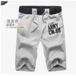 (Pre-Order) กางเกงขาสั้น ลำลอง ผ้ายืดสีเทาอ่อน แฟชั่นฤดูร้อนสำหรับผู้ชาย