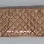 กระเป๋าสตางค์ นารายา ผ้าซาตินมัน สีทอง ( Wallet กระเป๋านารายา กระเป๋าผ้า NaRaYa )
