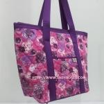 กระเป๋าสะพาย นารายา ผ้าคอตตอน สีชมพู ลายดอกไม้ มีช่อง ใส่โทรศัพท์ ด้านหน้า (กระเป๋านารายา กระเป๋าผ้า NaRaYa กระเป๋าแฟชั่น)