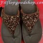 รองเท้า Fitflop Rockchic เพชรเม็ดเล็ก สีแดง No.FF304
