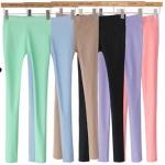 พรีออเดอร์ เลกกิ้งสีลูกกวาด กางเกงผ้ายืดขายาว กางเกงสกินนี่