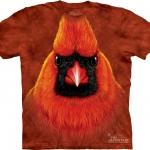 Pre.เสื้อยืดพิมพ์ลาย3D The Mountain T-shirt : Red Cardinal Portrait