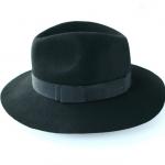 Pre-order หมวกผ้าขนสัตว์แฟชั่นสไตล์วินเทจ กันแดด กันแสงยูวี สีดำ