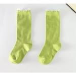 ถุงเท้าเด็กแบบยาวสีเขียว