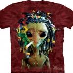 Pre.เสื้อยืดพิมพ์ลาย3D The Mountain T-shirt : Jammin Alien