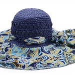 Pre-order หมวกปีกกว้างแฟชั่นฤดูร้อน กันแดด กันแสงยูวี สวยหวานเรียบหรู ดูดี สีน้ำเงินลายฟ้า