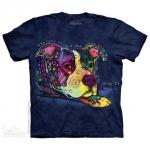 Pre. เสื้อยืดพิมพ์ลาย 3D The Mountain T-shirt : GIVE LOVE T-SHIRT