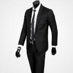 (พรีออเดอร์) ชุดสูทสากล ชุดสูทผู้ขาย สูทแนวสปอร์ต สูทธรกิจ แบบบาง กระดุมหนึ่งเม็ด สีดำ แฟชั่นสูทสไตล์เกาหลี