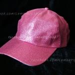 หมวก Cap กากเพชร กลิตเตอร์ สีชมพู