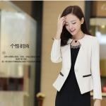 Pre เสื้อสูทผู้หญิง สูทบาง ฝีมือตัดเย็บระดับ High -end เสื้อผ้าแฟชั่นสไตล์เกาหลี แขนยาว สีขาว