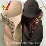 รองเท้า Fitflob Limited รุ่นเพชรกระจายใบไม้ หูหนีบ สีำครีม , สีน้ำตาล , สีดำ   No.FF352