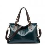 (Pre-order) กระเป๋าสะพายหนังแท้แบบเรียบๆ แฟชั่นกระเป๋าถือ ถุงสะพาย กระเป๋าสะพายสไตล์ยุโรป อเมริกา สีน้ำเงิน