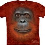 Pre.เสื้อยืดพิมพ์ลาย3D The Mountain T-shirt : Orangutan Face