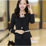 Pre เสื้อสูทผู้หญิง สูทบาง ฝีมือตัดเย็บระดับ High -end เสื้อผ้าแฟชั่นสไตล์เกาหลี แขนยาว สีดำ