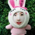 กระต่าย LOVE สีชมพู