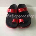รองเท้า Fitflob New หูหนีบ นิ้วโป้ง สวม สีำแดงล้วน No.FF372