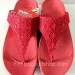 รองเท้า Fitflob New หูหนีบ ลูกไม้ สีแดง No.FF382