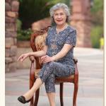 Pre-Order เสื้อผ้าผู้หญิง อายุ 60 up ผ้าทอลายโทนสีน้ำเงิน (428) คอจีน กระดุมหน้า