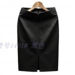 Pre-Order กระโปรงทำงาน ทรงตรง ผ้าสูท สีดำ สำหรับสาวสะโพกใหญ่ ต้นขาใหญ่ กระโปรงทำงานแฟชั่นเกาหลี