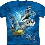 Pre.เสื้อยืดพิมพ์ลาย3D The Mountain T-shirt : Find 9 Sea Turtles