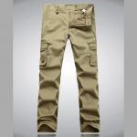 Pre-Order กางเกงยีนส์ ขายาว กางเกงแนวท่องเที่ยวผจญภัย สีกากี แฟชั่นกางเกงลำลอง