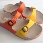 รองเท้า Fitflop New 2013 เข็มขัด สีส้มคาดสีเหลือง  No.FF404