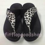 รองเท้า Fitflop New หูหนีบ ลายเสือ สีดำ No.FF419