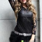 ชุดเซ็กซี่ ชุดนักร้อง แดนเซอร์ ชุดโคโยตี้ ชุดหนัง = กางเกงขนนก ปุย พริ้ว สีดำ =