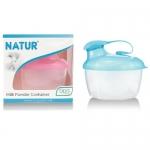 เนเจอร์ NATUR กระปุกแบ่งนมผง 3 ช่อง BPA Free สีฟ้า สีชมพู