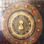 พระนาคปรก 12ราศรี ภาพวาด ติด ทองคำเปลวแท้100% ขนาด1x1เมตร