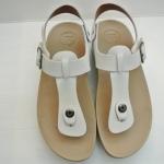 รองเท้า Fitflob New หูหนีบ เข็มขัด รุ่นใหม่ รัดส้น สีขาว No.FF185