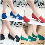 women's shoes มาแล้วจร้าาารองเท้าคัทชู Lacoste ที่สาวๆๆต่างรอคอยกับการกลับมาปัก Logo lacosteด้านข้างงานสวยมากคะใส่สบายทรง sport มีสี 4 ให้เลือกสวยทุกสีคะสั่งจองได้เลยจ้าพร้อมส่งแล้วคะ