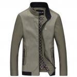 Pre-Order เสื้อแจ็คเก็ตผู้ชายแบบบาง แขนยาว สีทูโทนสีกากี แฟชั่นมาใหม่ปี 2015