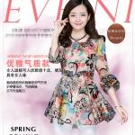 Pre-order เสื้อลำลอง ผ้าชีฟองพิมพ์ลายดอกไม้ แฟชั่นสาวเกาหลี