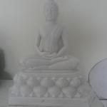 พระพุทธรูปปางสมาธิ หน้าตัก9นิ้ว แกะสลักจากหินอ่อน