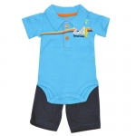 บอดี้สูทเด็กชายพร้อมกางเกง NB-9 เดือน